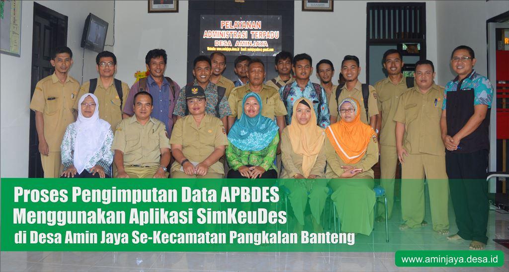 Proses Pengimputan Data APBDES di desa Amin Jaya Se kecamatan Pangkalan Banteng
